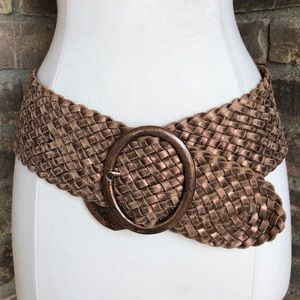 Jessica Simpson Belt Leather XL NWT Braided Wide